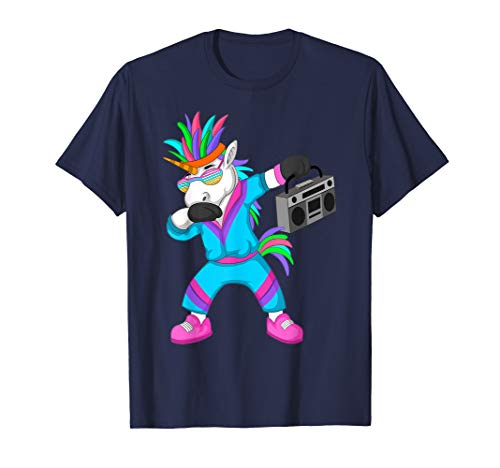 80er 90er Jahre Einhorn Kostüm T Shirt für 80er Retro Party (Einhorn Kostüm Frauen)