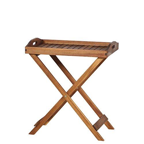 Siena Garden 358329 Tablett Astoria, 60x40x70cm, Gestell: Akazienholz, geölt in natur, Fläche:...