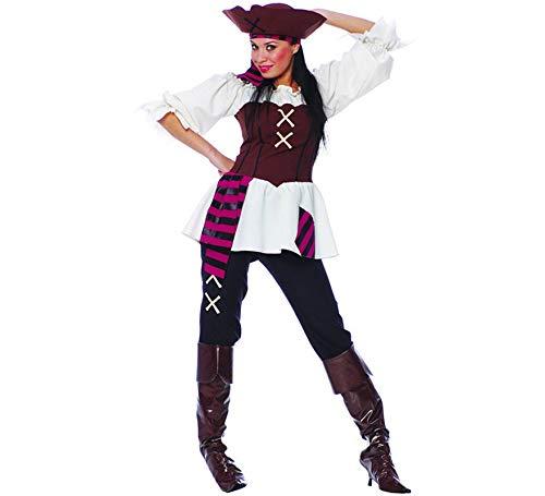 Piraten Kostüm für Damen , Größe:M