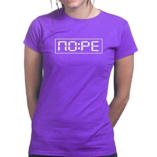 Womens Nope O'clock Grumpy Funny Sarcastic Ladies T Shirt (Tee, Top) Purple