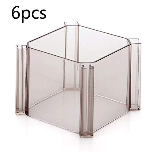 MCLseller Set mit 6 Socken, Aufbewahrungsbox für Schubladen, Trennwand für Schubladen, Aufbewahrungsbox für Schubladen im Honeycomb-Stil, einstellbare freie Kombination