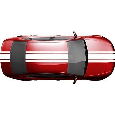 Rayas de Viper 14 x 200 cm Rayas Racing Rally Racha Pegatinas de coche Viper 2N004 - Gris Oscuro