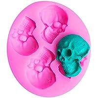 joyliveCY 1 UNID de Silicona de Dibujos Animados Fondant Molde de Pastel 3D Calavera Compatible Conma