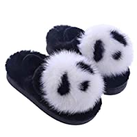 SXSHYUAR lovely All-inclusive Animal Plush Slippers, Cute Panda Home Slippers, House Slippers for Men Women and Kid, Non-slip and Soft Personalized Creative Gifts cotton