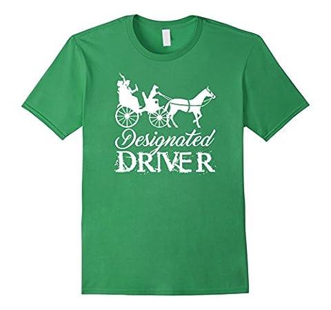 Men's PREMIUM Hilarious Doggy Designated Driver T-shirt Medium Grass