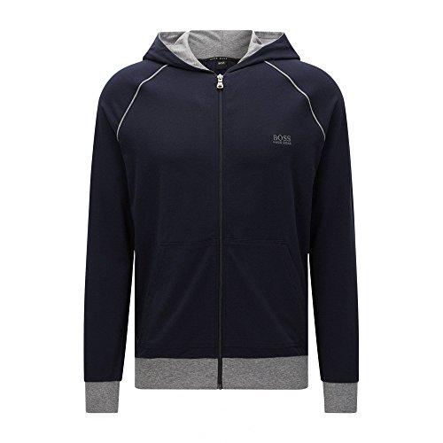 BOSS Hugo Boss Herren Trainingsjacke Jacket Hooded (M, 403 Dark Blue)