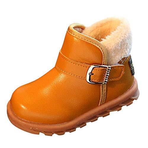 Linlink Kinderstiefel Junge Mädchen Winterstiefel Leder Schneestiefel Warme weiche Winterschuhe Boots