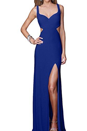 Ivydressing Damen Sexuell Schlitz Rueckenfrei Traeger Partykleid Promkleid Abendkleid Royalblau