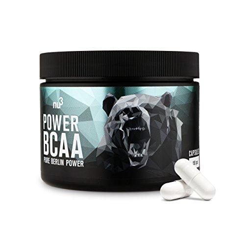 nu3 Power BCAA Kapseln - essentielle Aminosäuren im 2:1:1 Verhältnis - 150 Stück pro Dose - 4120 mg BCAAs pro Portion plus L-Arginin & L-Alanin - für Kraft & Leistungssport - unterstützt beim Abnehmen
