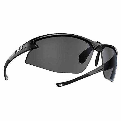 Bliz Motion Active Occhiali da sole, Metallic schwarz mit smoke/flash Spiegel-Gläsern, Standard