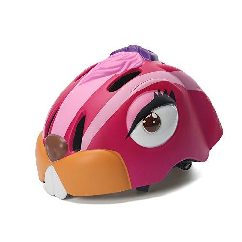 West Biking Kinder Fahrrad Mädchen Jungen Kinder Fahrradhelm Sicherheit 3–5Jahren Fahrrad Helm Cute Bunny, Kinder, rot