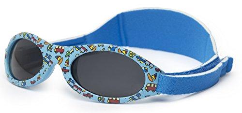 Sonnenbrille baby PREMIUM für Junge zwischen 0 Monate und 2 Jahren AUS WEICHEN SILIKON, POLARISIERTES GLAS UND VERSTELLBAREN BAND, 100% Schutz UVA/B, ideales Geschenk, Kiddus Baby KI30305