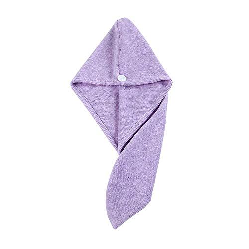 Bobopai Pearl Velvet Shower Bath Cap Hat Quickly Dry Hair Hat Wrapped Towel Bathing Cap (Purple)