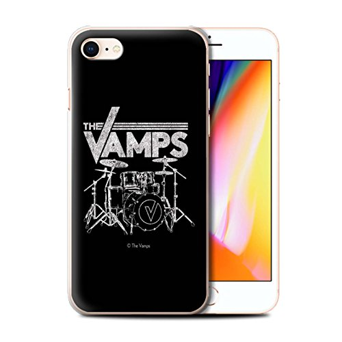 Offiziell The Vamps Hülle / Case für Apple iPhone 8 / Pack 6pcs Muster / The Vamps Graffiti Band Logo Kollektion Schlagzeug