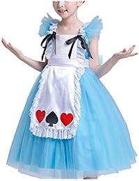 Kleid Prinzessin Kinder Elfe Party Festkleid Kostum Cosplay Karneval