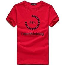 Tops de Hombre, Camiseta de Playa para Hombre Manga Corta Playa Sudadera Casual Camisa de