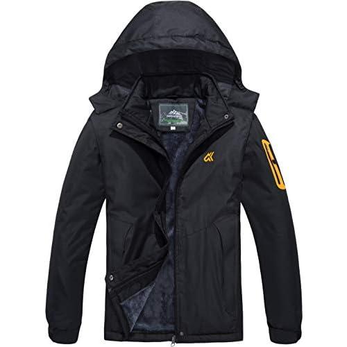 414TRcaHzKL. SS500  - TACVASEN Women's Windproof Water-Resistant Jacket Softshell Warm Breathable Fleece Outdoor Coat with Detachable Hood