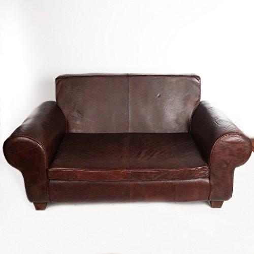 Ledersofa Braun Echtes Leder Couch Sofa Big Braun Vintage XXL Designer Neu