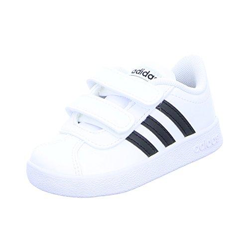 Adidas VL Court 2.0CMF I–Tennisschuh, Kinder, Weiß (Ftwbla/negbas/Ftwbla), 26