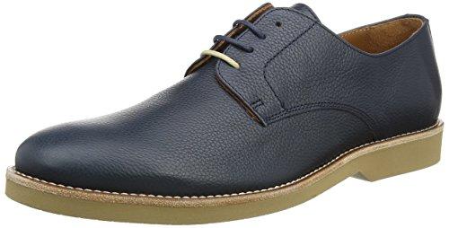 Hackett HMS20594, Zapatos Derby Hombre, Azul (Navy 595), 43 EU