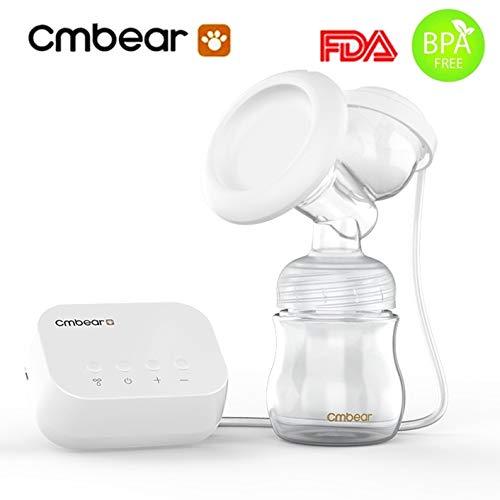 Cmbear Tiralatte Elettrico con la bottiglia e capezzoli privo di BPA naturale Confortevole silenzioso con cavo USB