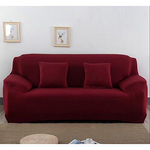 zantec Elastic rutschfeste Pure Color Soft Stuhl Sofa Bezug Stretch Polyester Sofa Bettüberwurf Antimilben Shield Displayschutz Stilvolle Möbel, burgunderrot, 145-185cm Weißes Sofa Sectional Möbel