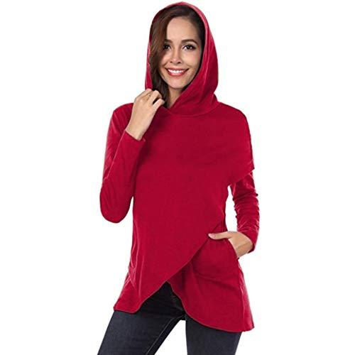 Damen Sweatshirt Tops SUNNSEAN Frauen Lässige Karierte Kapuze Langarm Hoodies Stilvolle Pullover...