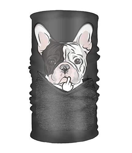 Qinckon Style French Bulldog Headwear Bandanas Seamless