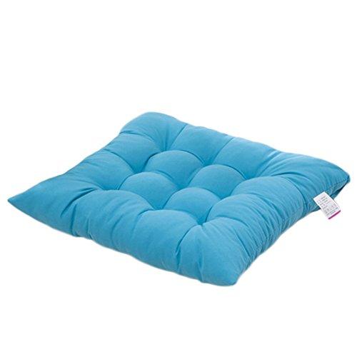 Cuscino sedia,worsendy cuscini per giardino, per dentro e/o fuori,40x40 cm,disponibile in tanti colori diversi,cuscini per sedie da giardino,copri sedia cucina (blu)