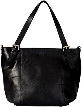 manbefair Fair Trade Öko-Leder Shopper Layla, Handtasche, Henkeltasche, Umhängetasche 40x30x18 cm (BxHxT)