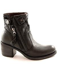 NERO GIARDINI 13552 nero stivaletti donna tronchetti zip pelle tacco f6abdddabfc