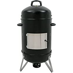 "BBQ-TORO Räuchertonne ""Hickory"", Ø 46 cm Räucherofen, XL Smokertonne, Fischgrill, BBQ Holzkohle Grill, 107 cm hoch"