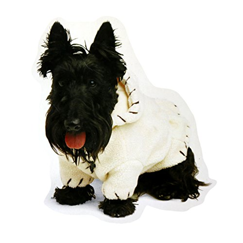 CozyPet Wendejacke für Hunde, Flanell/Schaffell, Größe M, Rot - Schaffell-kragen