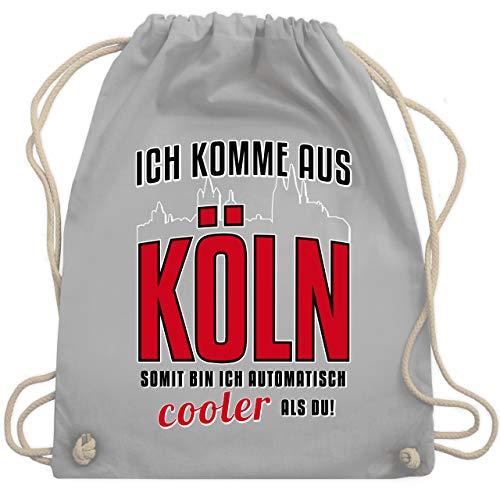 Städte - Ich komme aus Köln - Unisize - Hellgrau - WM110 - Turnbeutel & Gym Bag -