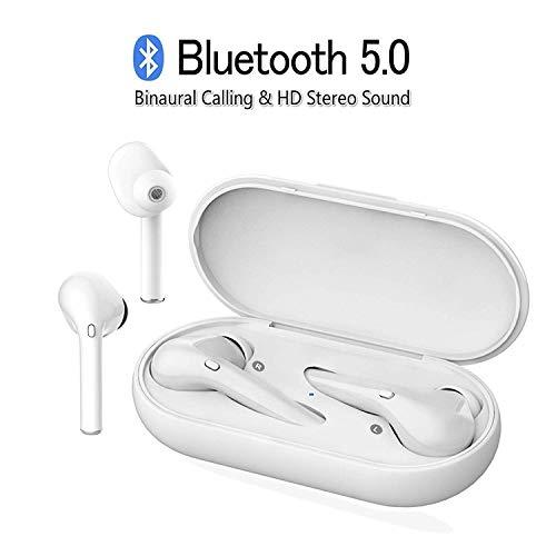 Cuffie 5.0 Bluetooth Senza Fili Auricolari con CVC 6.0 Microfono, HanFasion M6s-TWS Earphones Wireless Auricolare HD Stereo Clear Dual Call/Siri Voice Control Chiara/Connetti Automaticamente
