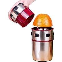 MOMEY Exprimidor portátil de la rotación de la Tapa del Acero Inoxidable de Juice Citrus de