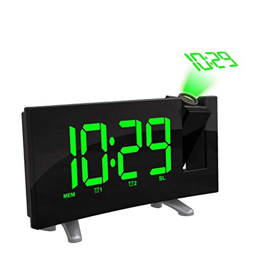 SM SunniMix LED Elektronischer Digitaler Radiowecker Projektionswecker Wecker - Grüne LED