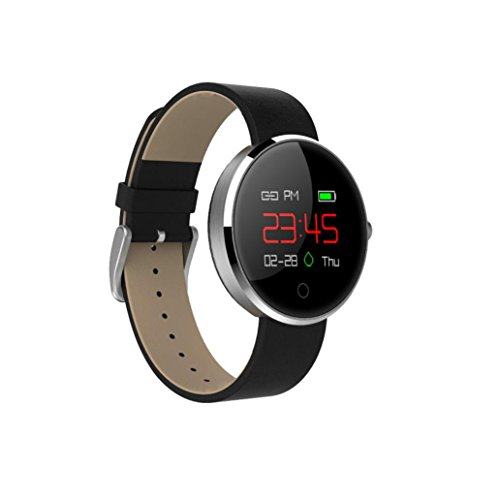 TPulling Mode DM78 Farbe Smart Uhr Blutdruckmessgerät, dynamische Pulsmesser, Schrittzähler Smart Armband Handgelenk Intelligente Armbanduhr Smart Watch Track Smart Armband Uhr mit bunten UI Bluetooth Smart Armband Sportuhr (Silber)