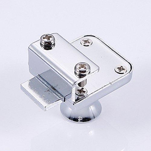 414TX3 O8LL - Acutty aleación de Zinc Cerradura Cristal Vitrina Ventana de candados para 5-8mm Puerta de Cristal sin Broca con 2Llaves