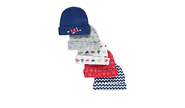 c7631d2fe01 Cribmates Baby Boys Going Places 5-Pack Infant Caps - navy multi