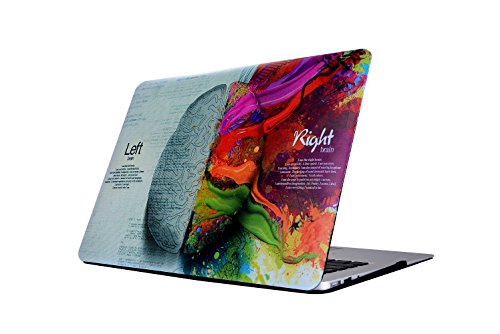 MacBook Pro 15 Retina Hülle, L2W MacBook Pro 15,4 Zoll Retina links und rechts Gehirn schützend Voll Cover Vinyl Kunst Haut Aufkleber Aufkleber Hard Shell Hülle Abdeckung für Macbook Pro 15.4 mit Retina Display (Modell: A1398) - Links und Rechts Gehirn (Macbook Pro 15in Shell)