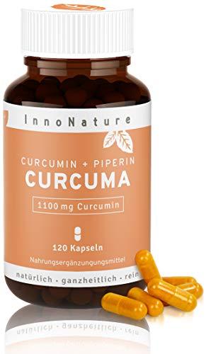 Hochdosierte Curcuma/Kurkuma + Piperin Kapseln mit 1100mg reinem Curcuminoide Gehalt. 120 Kapseln im Monatsvorrat. Laborgeprüft, hohe Bioverfügbarkeit, vegan + hergestellt in DE. ...