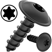 100 AUPROTEC Tornillos de chapa 3,9 x 25 mm TORX con cabeza de arandela tornillo alomado cincado negro DIN 7049 - 3,9 x 25 mm, 100 piezas