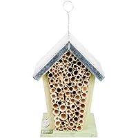 Esschert, Casetta di Design per api e Insetti, con Anello Metallico, da Appendere o poggiare, ca. 15,2 cm x 12,7 cm x 20 cm