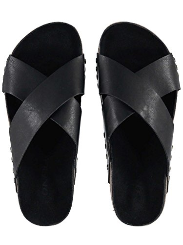 Damen Sandalen O'Neill Strap Detail Slide Sandalen Frauen Black Out