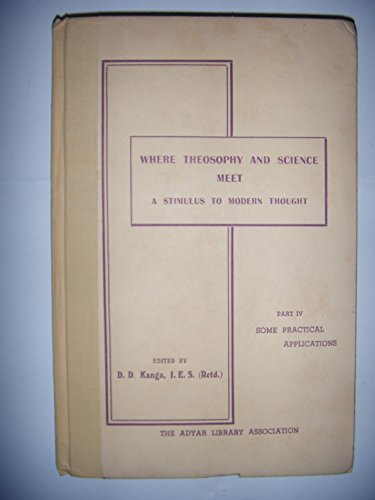 Blavatsky, Théosophie: Where theosophy & science meet a stimulus modern thought par Kanga
