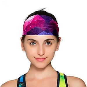 Bioxo - Comoda fascia per capelli, ideale per fare sport e yoga, 3D Three-dimensional purple