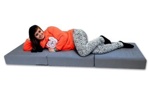 Best For You Prime Klappmatratze für Erwachsene mit Viscoauflage 15 cm in zwei Farben (Grau)