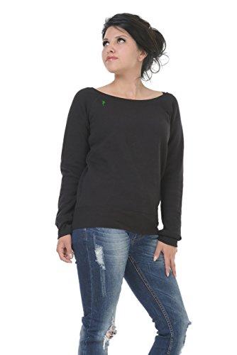 Pullover schulterfrei mit u-boot-ausschnitt mit kleiner Elfe der Marke 3Elfen Schwarz Grün