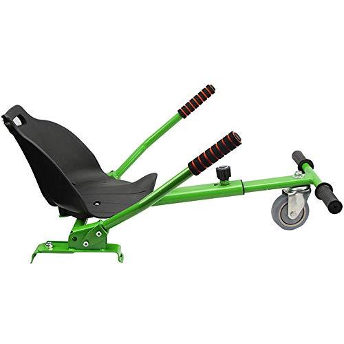 Hoverboard-Sitz, Hoverboard-Kart-SitzzubehöR, LäNgenverstellbare, ExplosionsgeschüTzte PU-Reifen / FüR Alle Selbstausgleichenden Roller (6,5-10 Zoll) / Erwachsene, Kinder(Enthält kein Hoverboard)